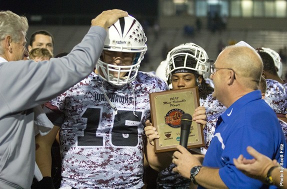 Jake Mullin was named the MVP of the CHAMPS Heart of Texas Bowl