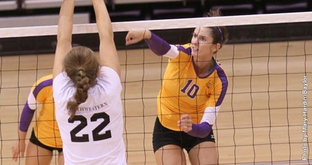 UMHB sophomore Cheyenne Dowdey recorded a match-high 13 blocks against East Texas Baptist, the highest number of blocks by an ASC athlete in a match this season.