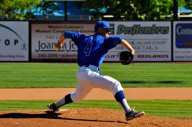 Blinn freshman pitcher Christian Thames made his first major collegiate career start at the 2014 Alpine Bank JUCO World  in Grand Junction, Co. (Buccaneer Sports Facebook)