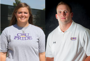 AshLee Bilbo and Josh Holt win ASC Scholar-Athlete Medal of Honor (UMHB Athletics)