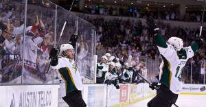 Stars dominate IceCaps 6-3 to take Game 1 of the Calder Cup Finals. (Texas Stars Facebook)