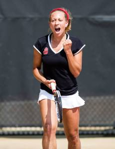 Racheal James-Baker transfers to Baylor. (NC State Women's Tennis Facebook)