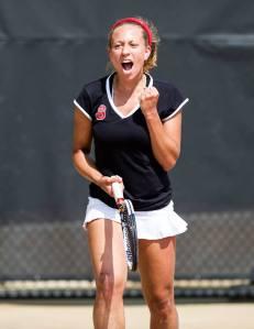 Racheal James-Baker transfers to Baylor. (NC State Women's Tennis Facebook)