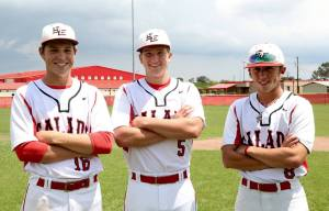 Salado seniors Casey Frazier, Cole Haag and Britton Hawes were selected to play in area all-star high school baseball games. (Facebook)