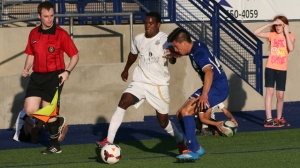 The Ausin Aztex repeat as USL PDL Mid South Division champions with a 2-1 win over Midland/Odessa Sockers on Saturday night in Midland. (AustinAztex.com)