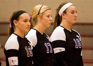Marissa Banda, Kelsey Raglin and Meg Umbel are three of Tarleton's 11 returning players for the 2014 season. (Photo courtesy of Tarleton Sports)