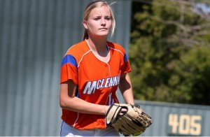 Ashley Mills is one of three Highlassies on the Region V North squad at the Texas Junior College Softball Coaches Association Sophomore All-Star weekend. (McLennan Athletics courtesy photo.)