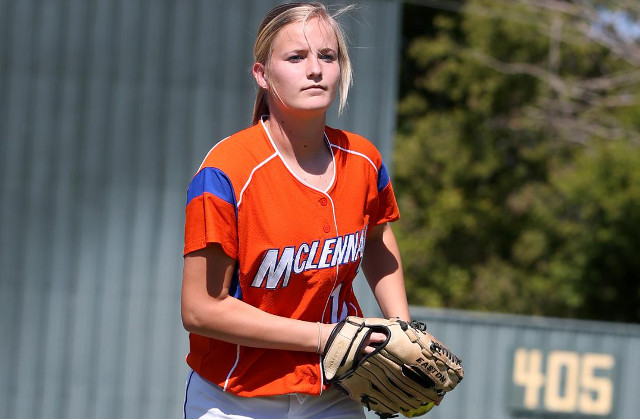 Ashley Mills of Groesbeck along with shortstop Amber Mills of Friendswood will Ashley Mills is one of three Highlassies on the Region V North squad at the Texas Junior College Softball Coaches Association Sophomore All-Star weekend. (McLennan Athletics courtesy photo.)