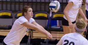 Southwestern junior outside hitter Macey Pool was named Defensive Player of the Week in week 9 of the SCAC Volleyball season. (Southwestern Athletics courtesy photo.)