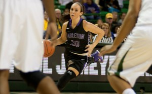 Tarleton point guard Morgan Ashmore scored eight points and dealt four assists at Baylor Monday night. ( Photo courtesy NATHAN BURAL/Tarleton)