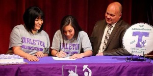San Antonio Reagan libero Adrianna Knutson signs with Tarleton State as first member of 2015 recruiting class. (Tarleton Sports courtesy photo)
