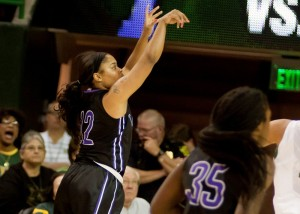 Tarleton senior guard Kathy Thomas earned her second career Lone Star Conference Offensive Player of the Week award (Tarleton Sports courtesy photo.)