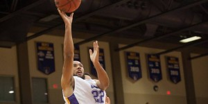 Jalen Jury scored 13 points in UMHB's loss to ETBU on Thursday.