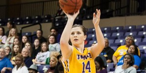 Senior Macy Moore scored 25 points to lead UMHB to a 98-77 win over LeTourneau on Saturday. (Photo by DAVID MORRIS / Centexphoto)