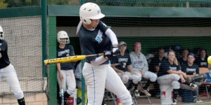 Kaymee Gooden went 3- for 3 with a double, a triple and three RBIs in McLennan's sweep over Trinity Valley on Tuesday. (McLennan Athletics courtesy photo)
