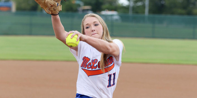 Freshman pitcher Morgan Hill (McLennan Athletics courtesy photo)