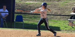Junior Kaci Olson went 4 for 5 in the Hilltoppers home opening doubleheader on Tuesday. (St. Edward's Athletics courtesy photo)