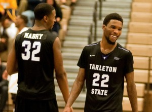 Mo Lee and TaShawn Mabry combined for 48 points Saturday night as No. 12 Tarleton State topped No. 25 Texas A&M-Commerce in a battle of conference and national powers. (Tarleton State Athletics courtesy photo.)