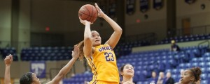 Taylor Tucker had a monster game in her final appearance in a UMHB uniform, pouring in a game-high 28 points and adding 13 rebounds.