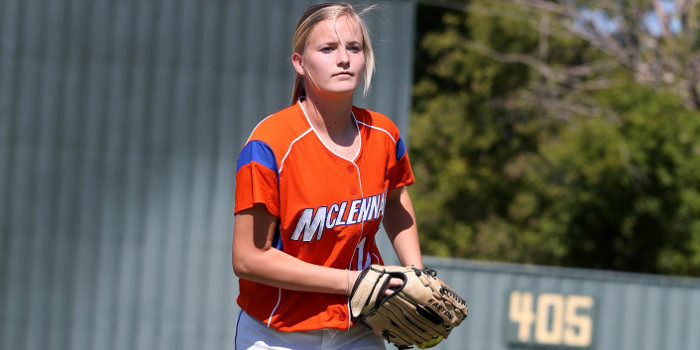 McLennan senior pitcher Ashley Mills was named to the 2015 NJCAA Region V All-Region team on Wednesday. (MCC Photo)